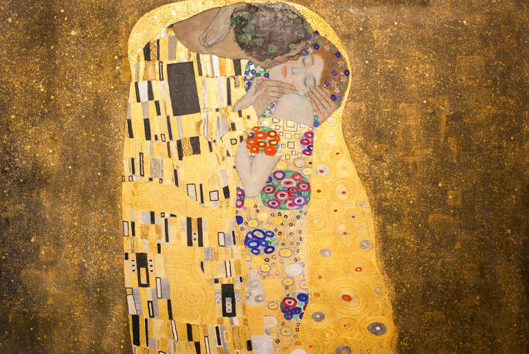 The Kiss,Gustav Klimt,Belvedere palace,Vienna, Austria, Europe